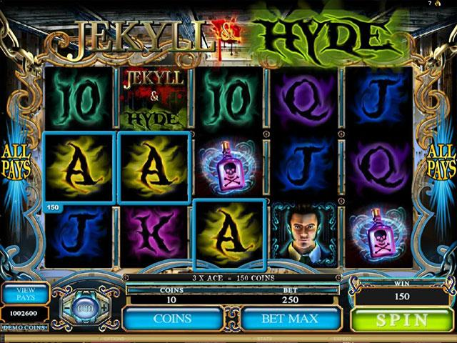 Jekyll and Hyde microgaming jocuri slot screenshot