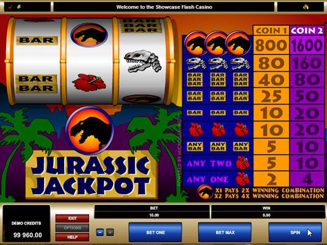 Jurassic Jackpot microgaming jocuri slot screenshot