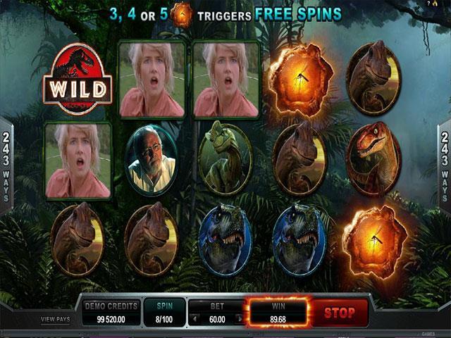 Jurassic Park microgaming jocuri slot screenshot