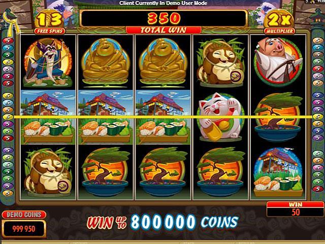 Karate Pig microgaming jocuri slot screenshot