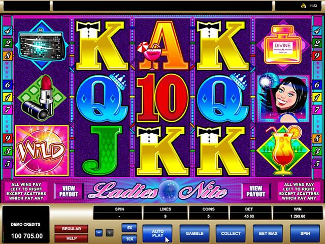 Ladies Nite microgaming jocuri slot screenshot