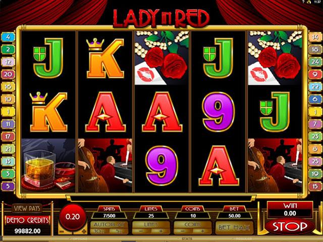 Lady in Red microgaming jocuri slot screenshot