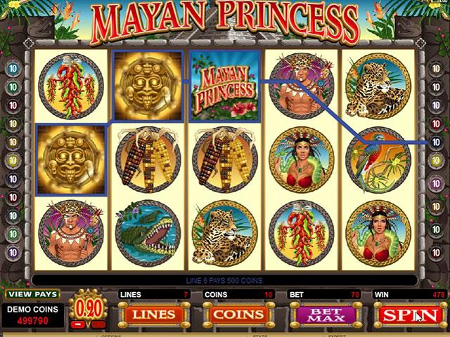 Mayan Princess Microgaming jocuri slot thumbnail