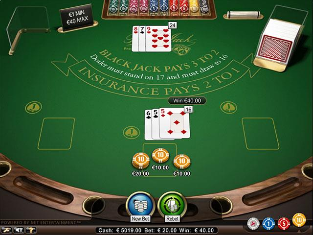 Black Jack Professional Series Standard Limit NetEnt screenshot