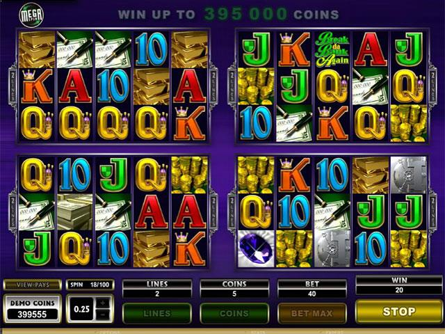 Mega Spins Break Da Bank Microgaming jocuri slot screenshot