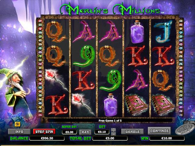 Merlin's Millions Microgaming jocuri slot screenshot