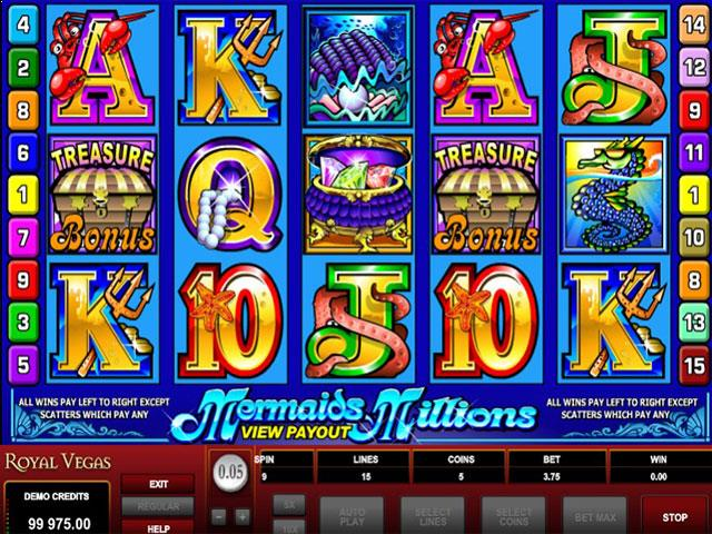 Mermaids Millions Microgaming jocuri slot screenshot