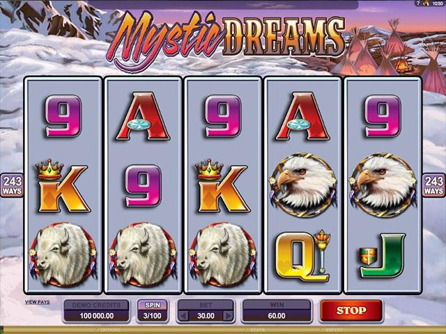 Mystic Dreams Microgaming jocuri slot screenshot