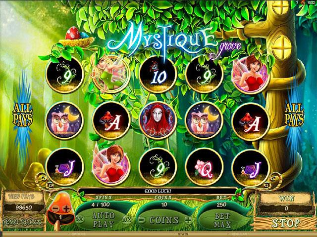 Mystique Grove Microgaming jocuri slot screenshot
