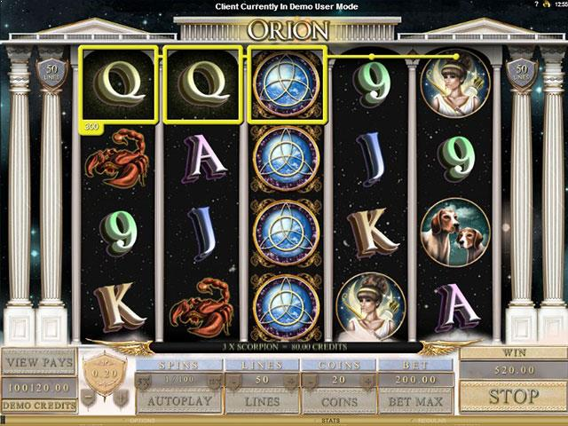 Orion Microgaming jocuri slot screenshot