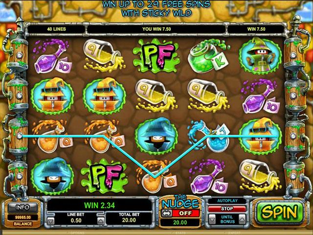 Potion Factory Microgaming jocuri slot screenshot