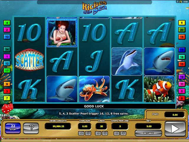 Riches of the Sea Microgaming jocuri slot screenshot