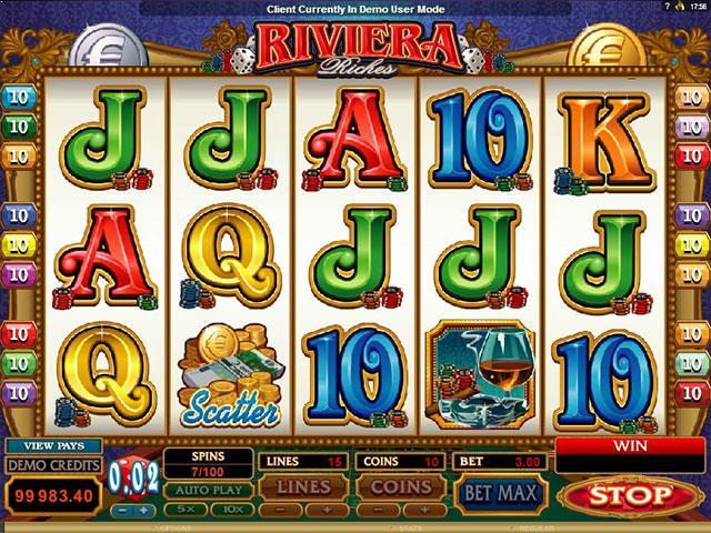 Riviera Riches Microgaming jocuri slot screenshot