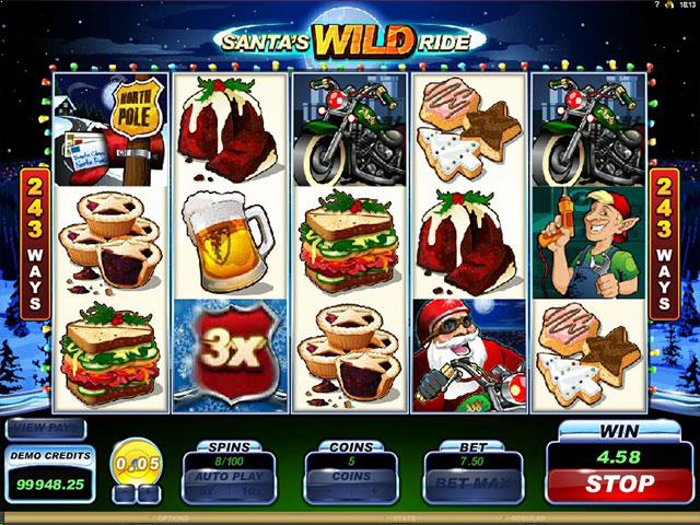 Santa's Wild Ride Microgaming jocuri slot screenshot