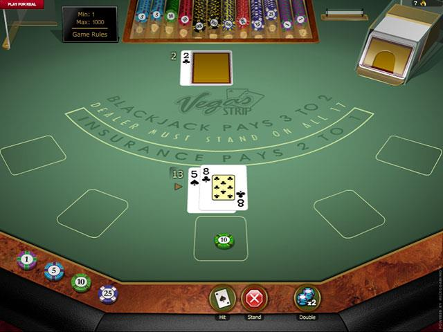 Vegas Strip Blackjack Microgaming screenshot