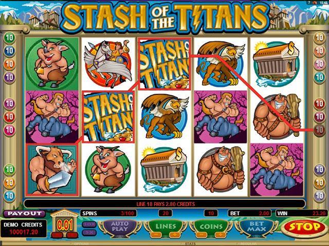 Jocuri Ca La Aparate Stash Of The Titans Microgaming SS - Multabafta.com